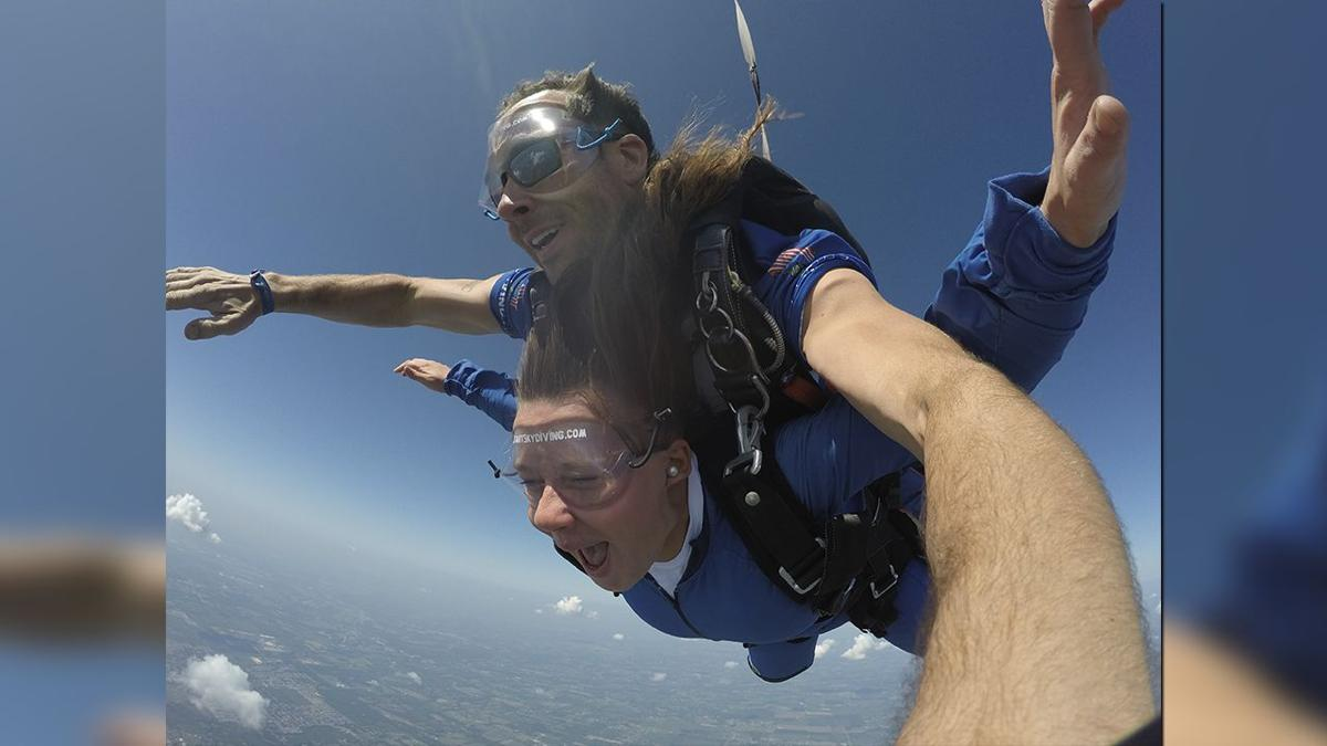 Shelby County teachers go skydiving (Sept. 2019)