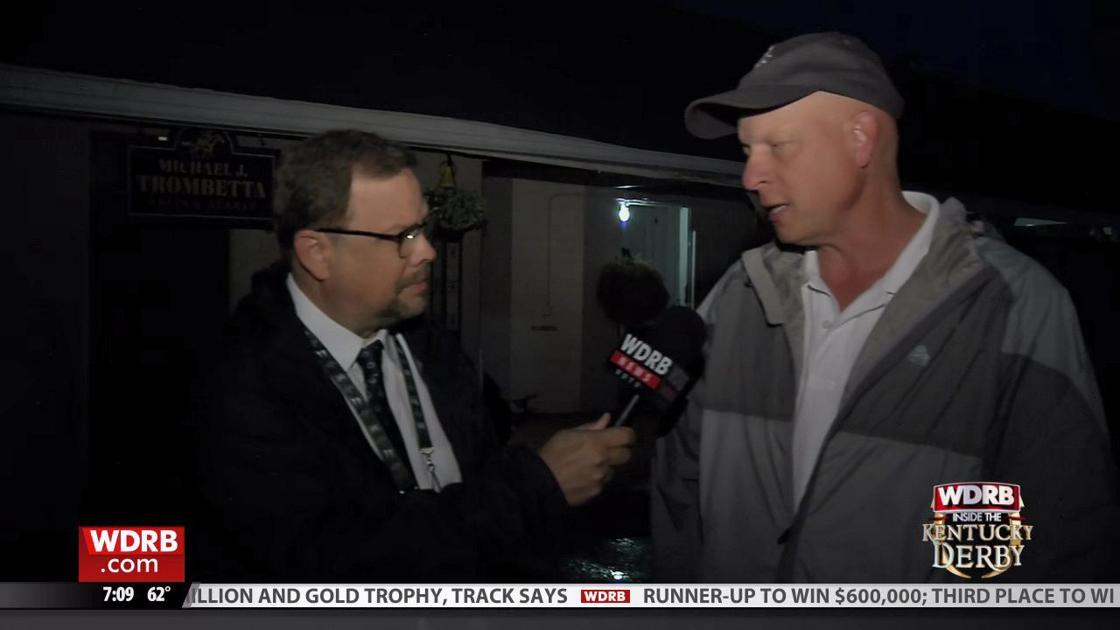 WDRB's Eric Crawford talks to Win Win Win trainer Michael