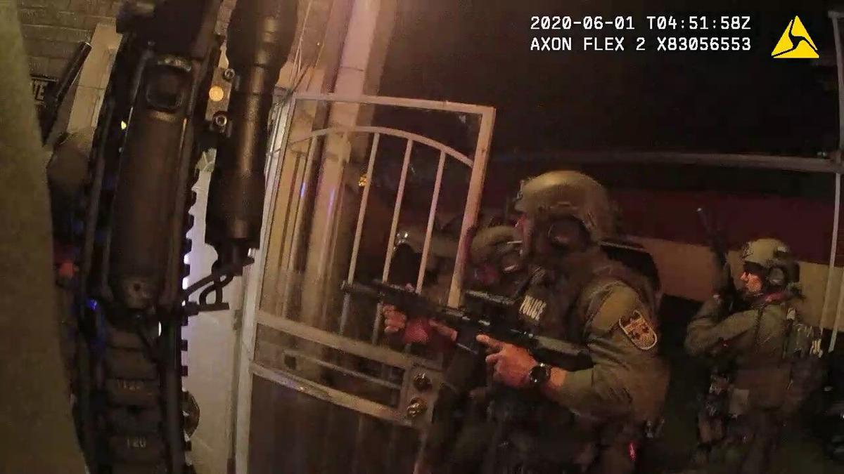 David McAtee SWAT enters