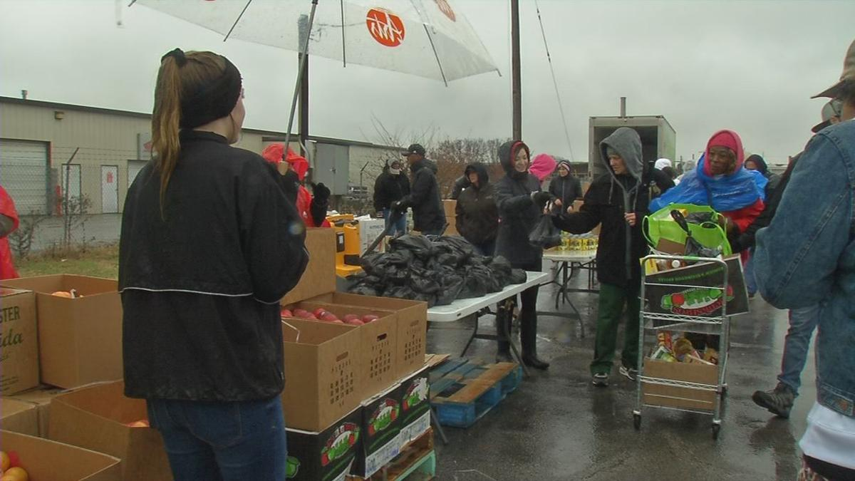 Ali Center Volunteers with donated items