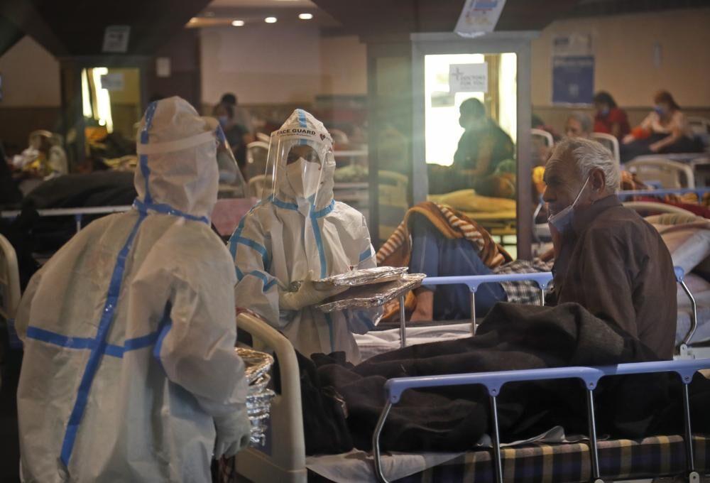 Quarantine center for COVID-19 patients in New Delhi, India