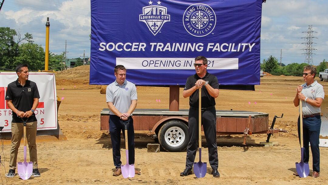 Soccer training facility groundbreaking