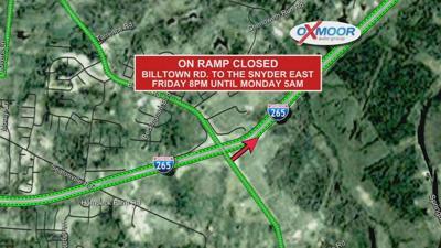 Billtown Ramp closure