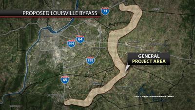 Preliminary Louisville bypass study area