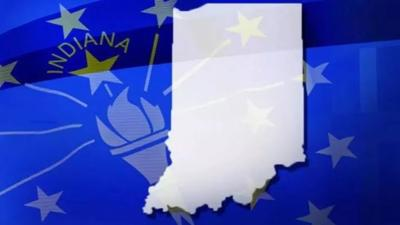 Indiana state and flag generic