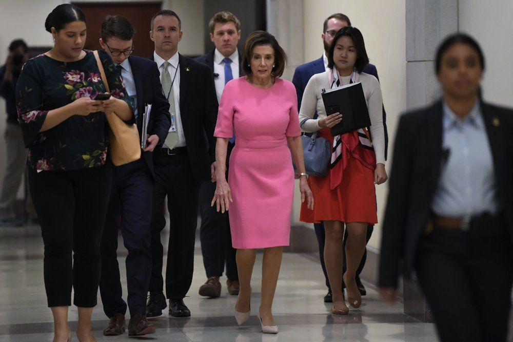 Pelosi on Capitol Hill