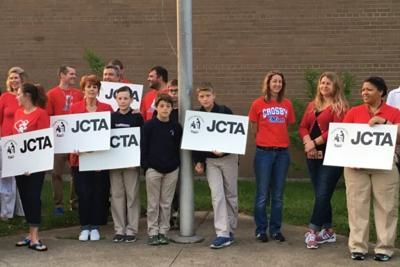 JCPS schools hold walk-ins to protest salary freeze, code of conduct proposals