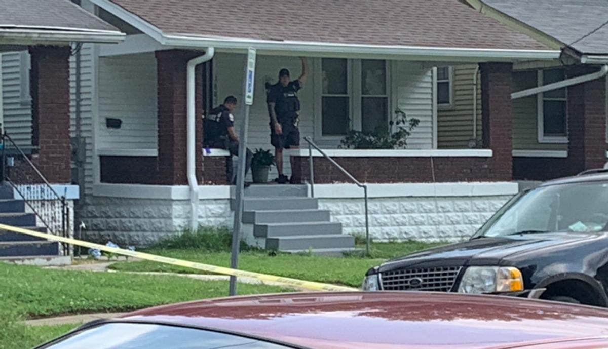 Scene of fatal shooting, July 19, 2019, West Kentucky Street