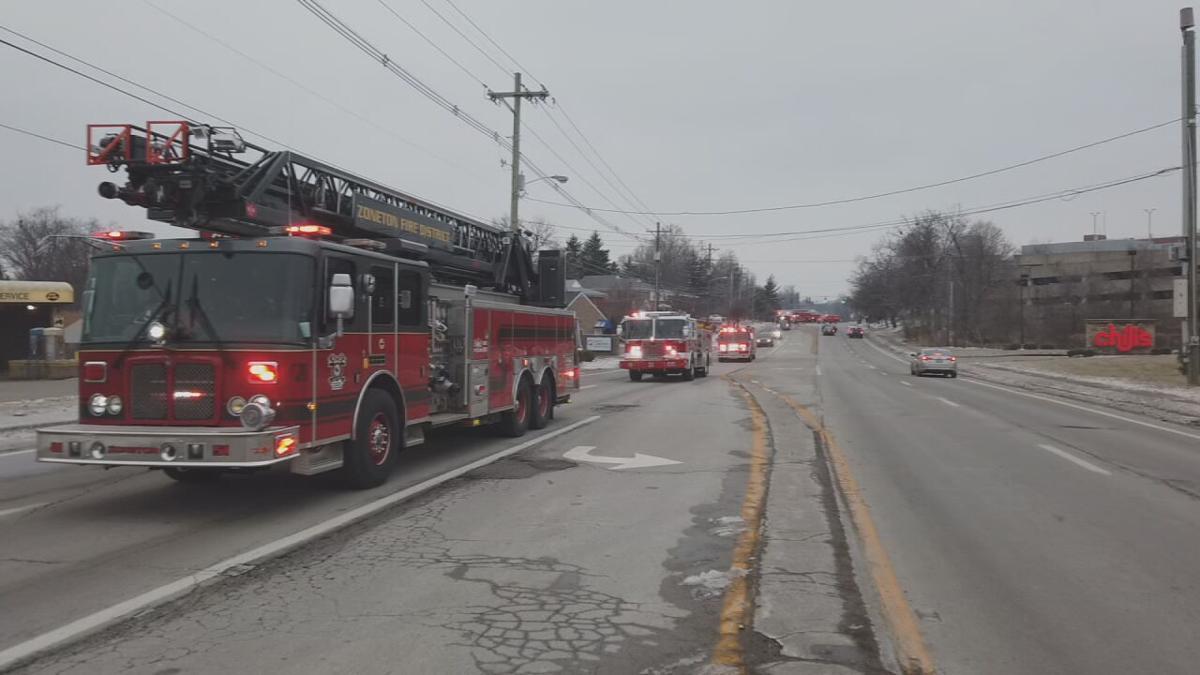 Fire trucks honor fire chief Garry Key.jpeg