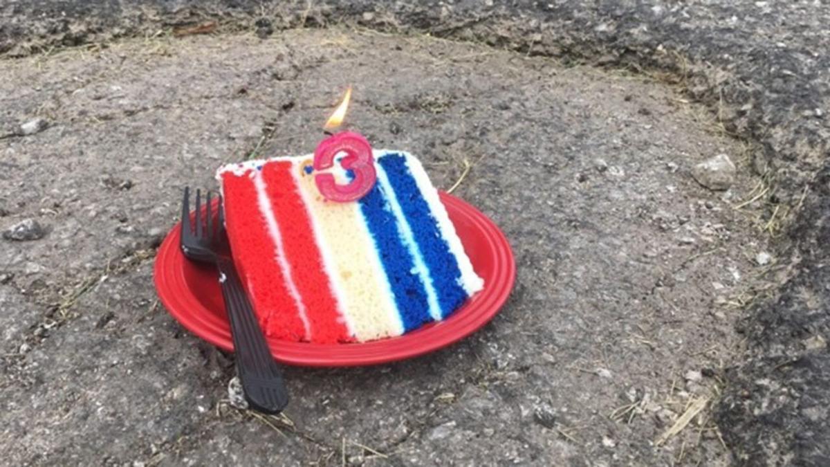 Pothole Birthday Cake
