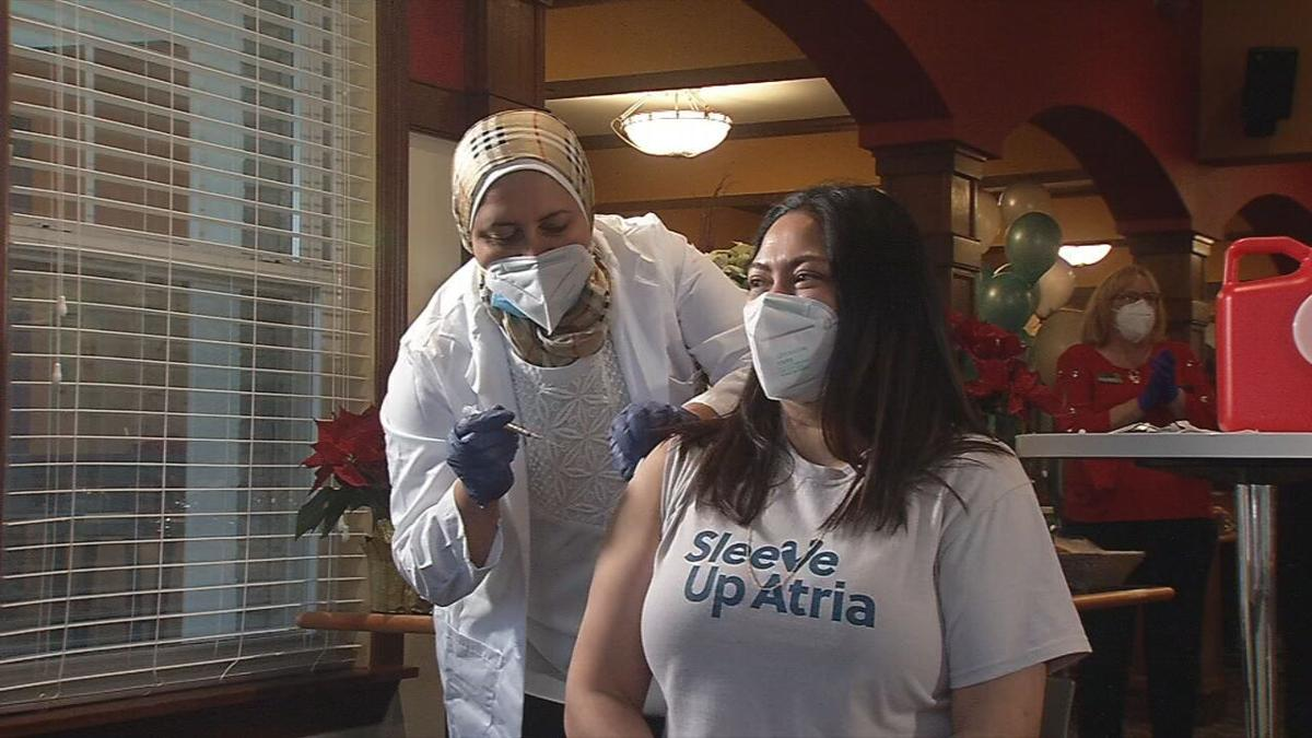 COVID-19 vaccines being administered at Atria Senior Living