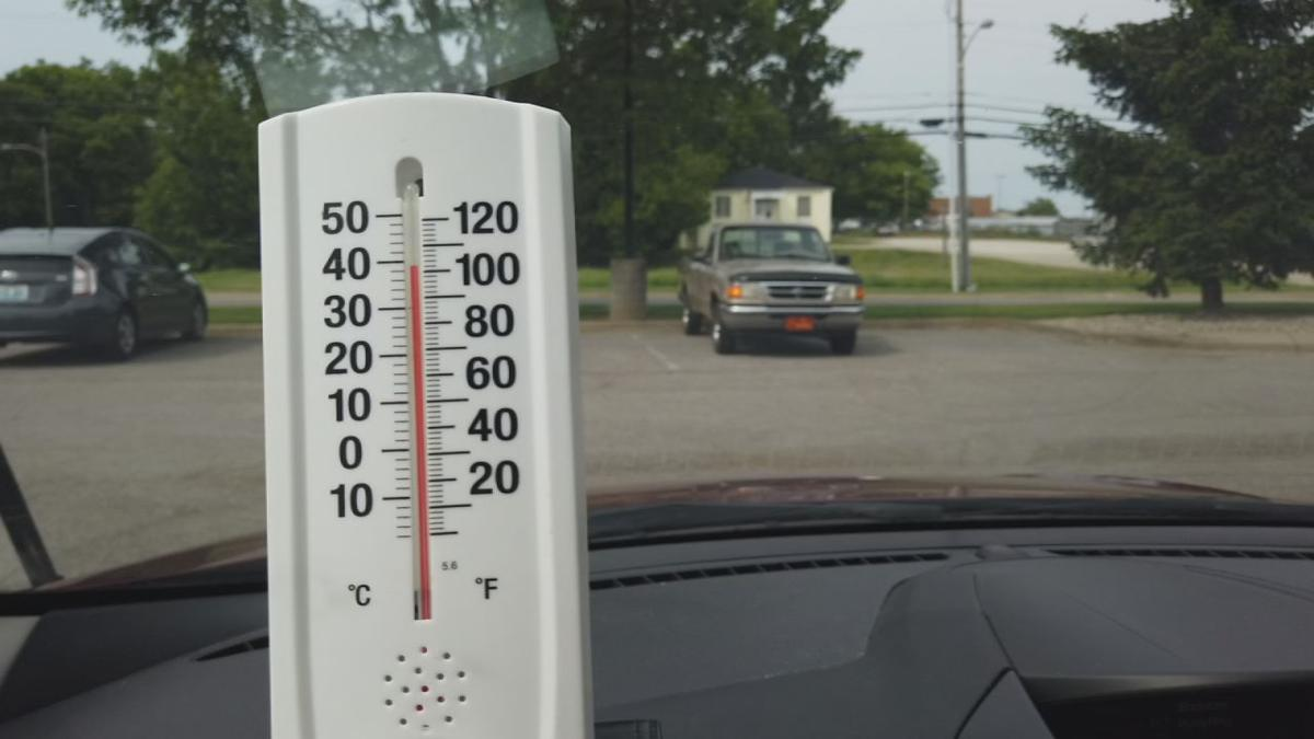 Hot car (temperature gauge inside car)