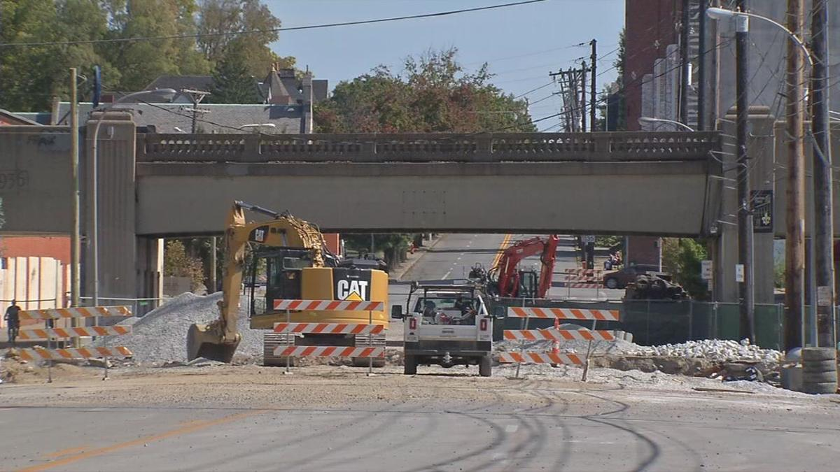 Construction on East Broadway (Oct. 2020)