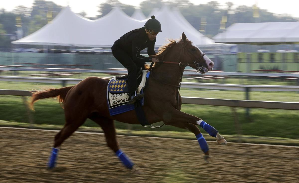 Improbable runs during Preakness training