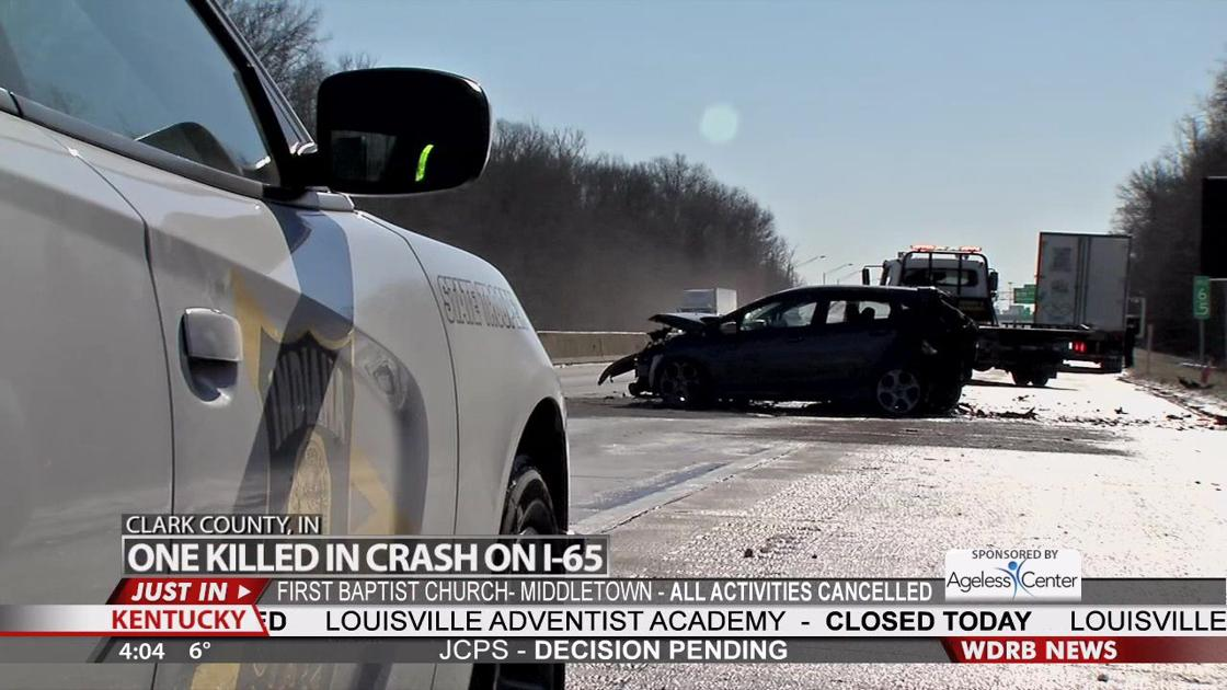 One person killed in crash on I-65 South in Clark County   Wdrb