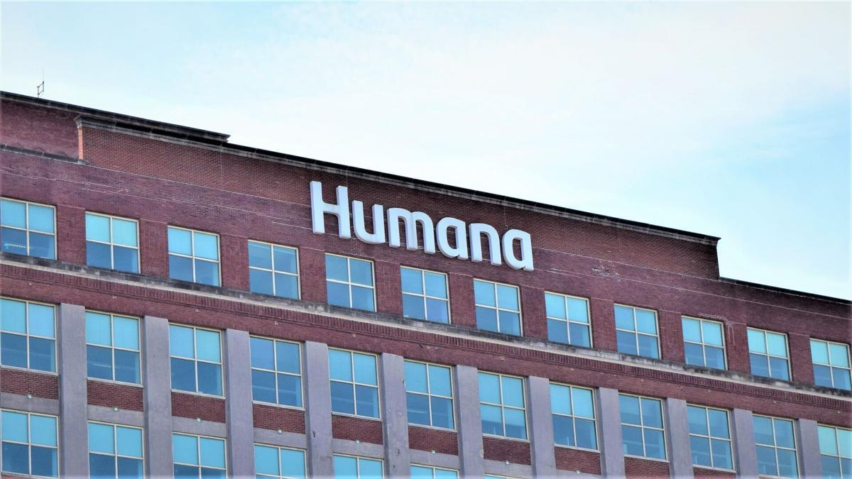 humana waterside logo on building
