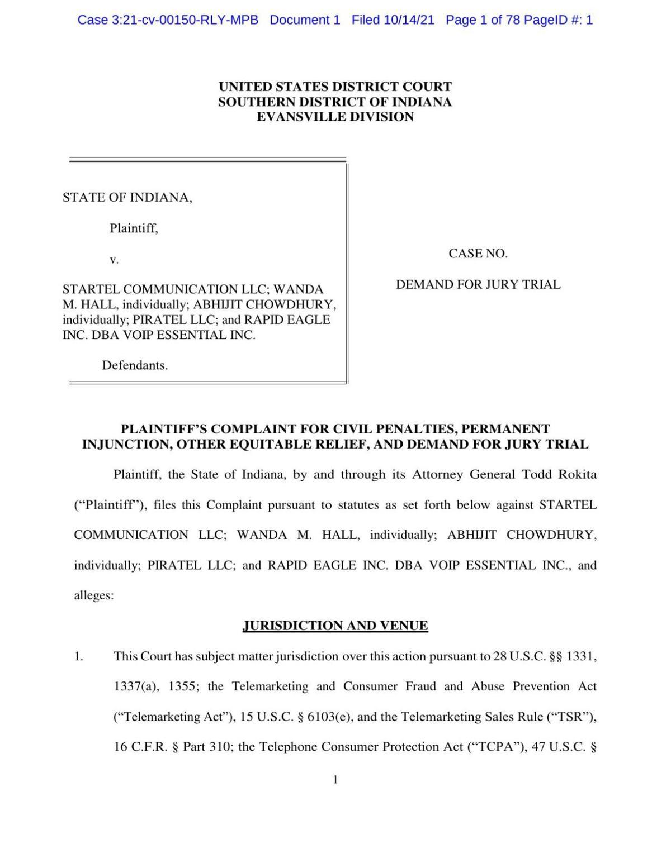Indiana Robocall Lawsuit
