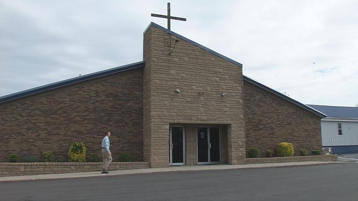 Man walks into Maryville Baptist Church