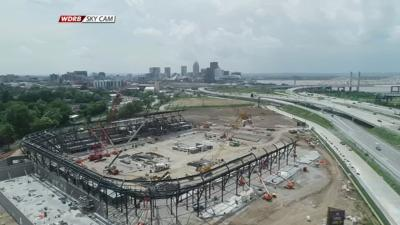 Louisville City FC Stadium Construction Drone