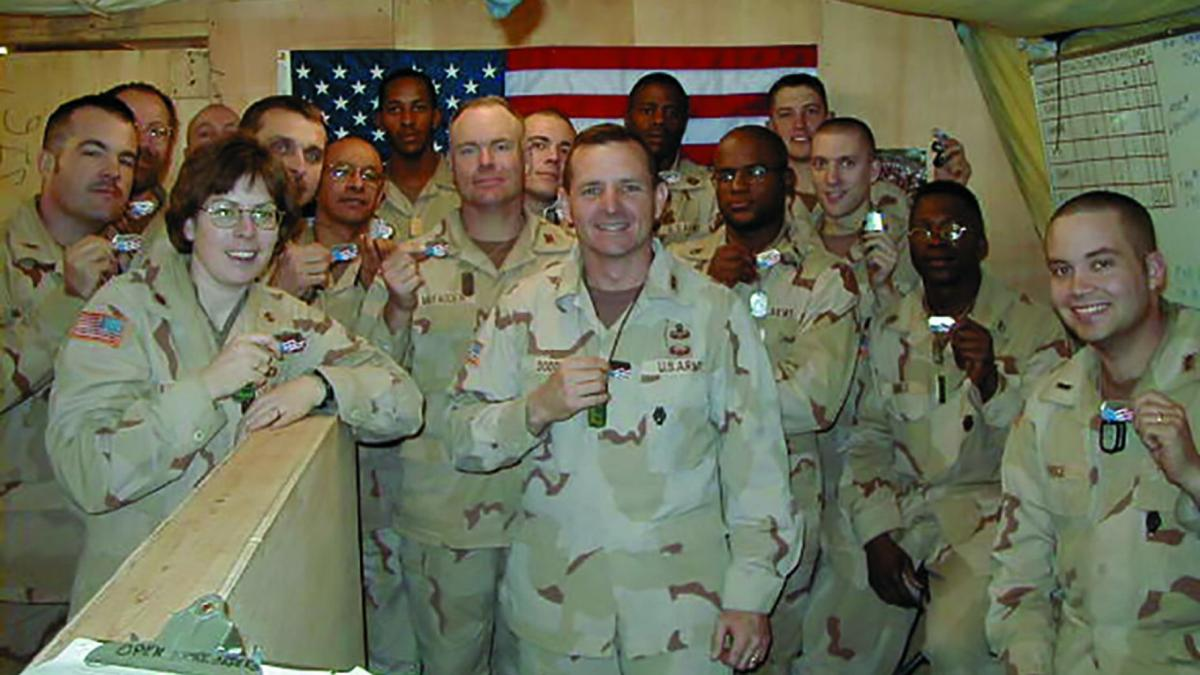 US Col. David Dodd 86th battalion in Afghanistan with Shields of Strength
