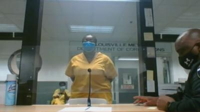 Wendella Battle appears in court for attempted murder on May 14, 2021