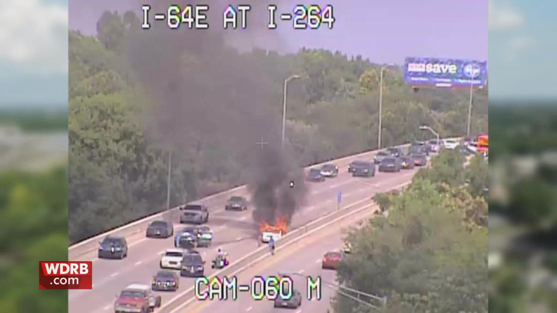 1 dead in vehicle fire after crash on I-64 West | News | wdrb com