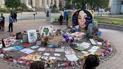 Breonna Taylor memorial at Jefferson Square Park 9/27/20