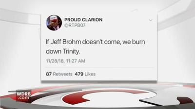 Police searching for person who tweeted threat to 'burn down Trinity'