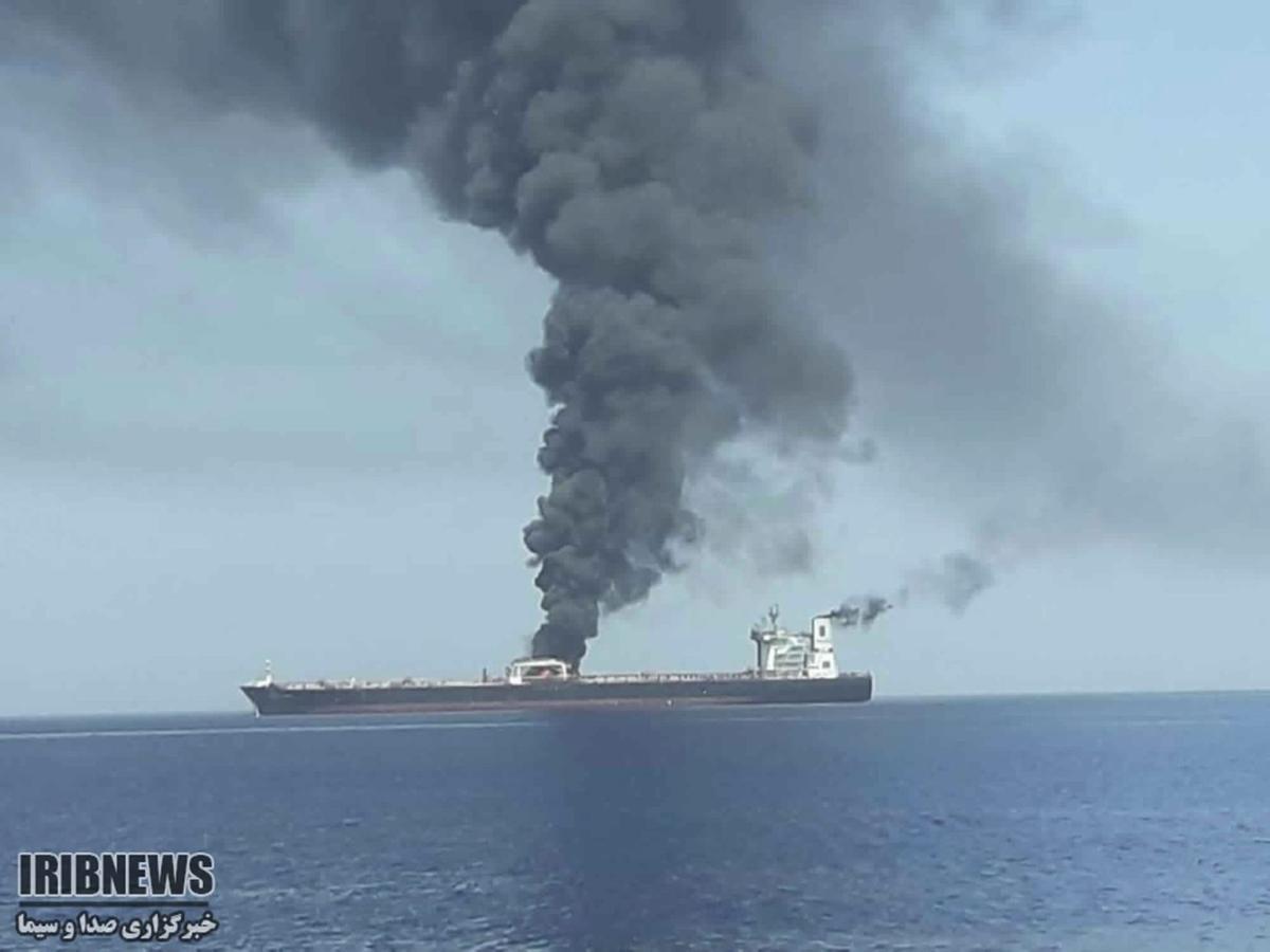 Oil Tanker Burns via Fox