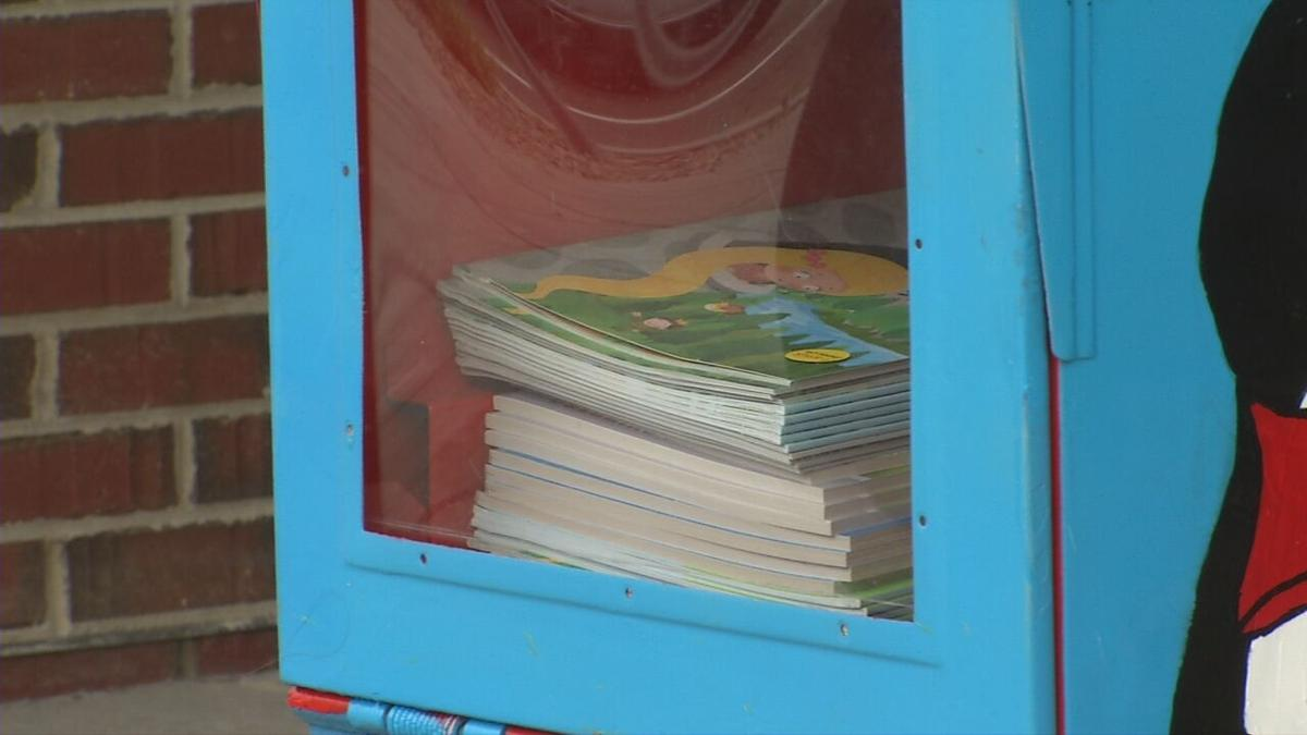 Little Library outside of Franklin Square Elementary