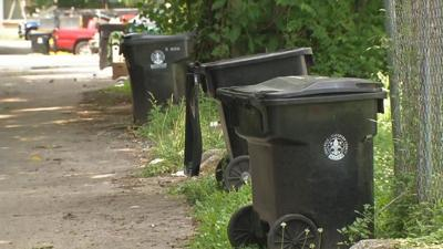 Garbage Cans Outside Louisville Homes