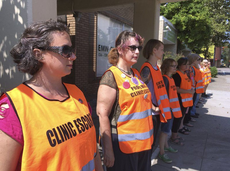 Abortion Escorts in downtown Louisville via AP