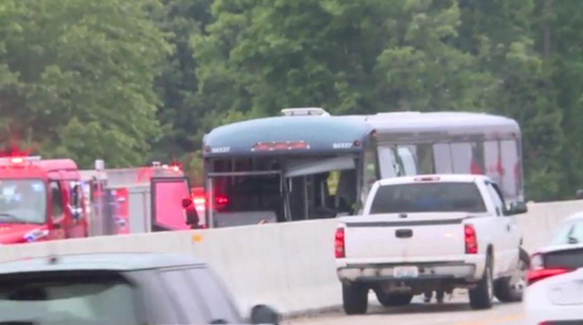 1 dead in wrong-way crash involving car, charter bus on I-65