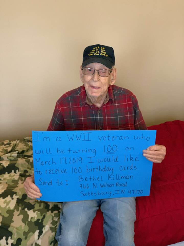 WWII Veteran From Southern Indiana Asking For Birthday Cards For