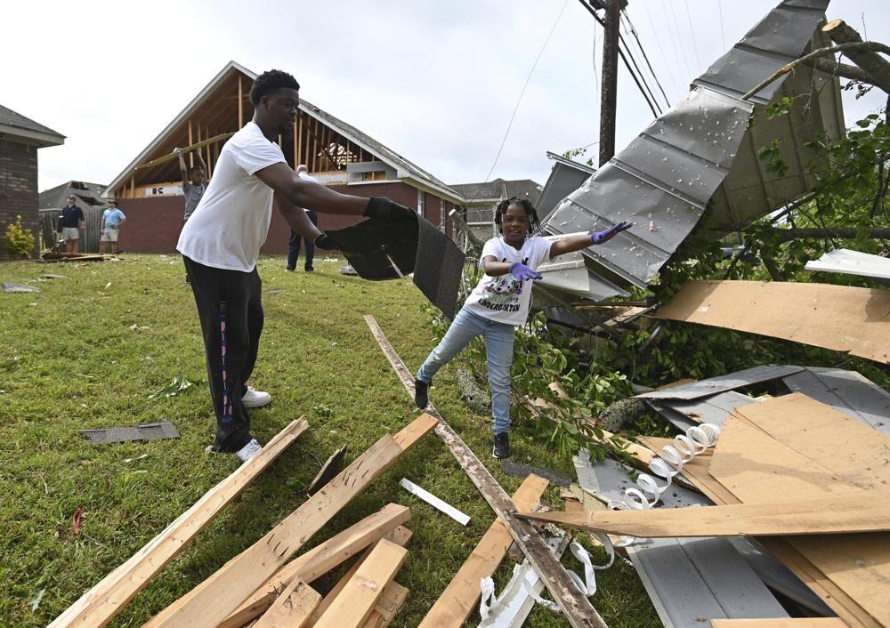 Storm damage in Tupelo, Mississippi