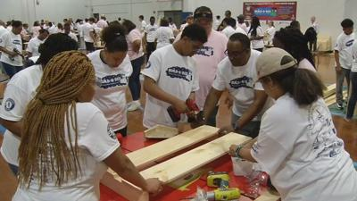 """Build A Bed event helps kick of Mayor's """"Give A Day"""" volunteer effort"""