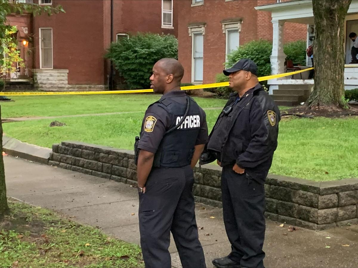 Sept. 22, 2021 homicide scene where 3 students shot at bus stop