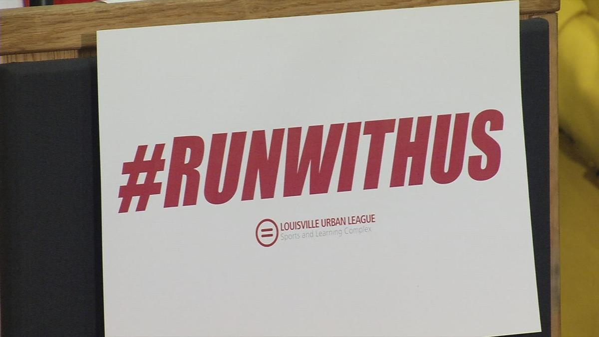 Logo for Louisville Urban League's #RunWithUs campaign to build sports complex