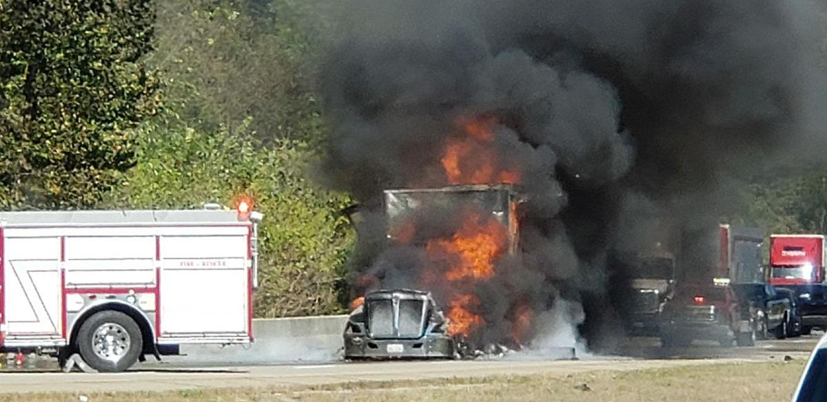 Semi truck fire causes major delays on I-65 South near Elizabethtown