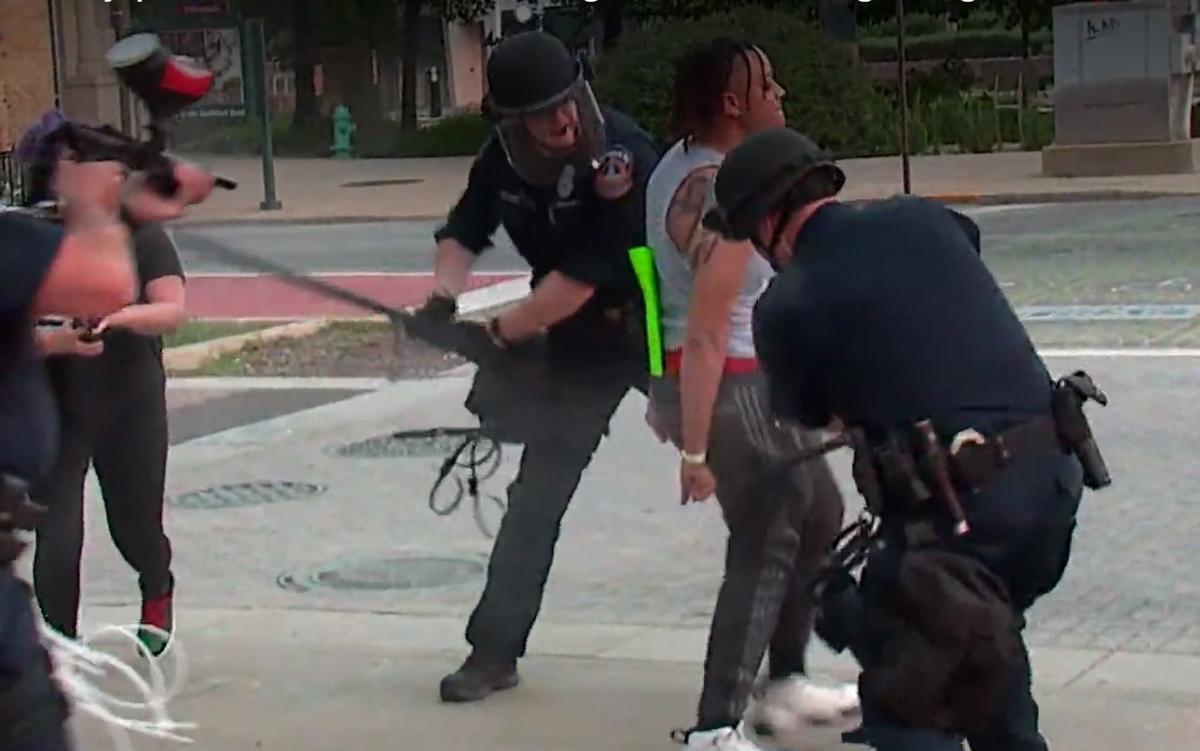 Police beating Indianapolis May 2020