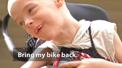 Custom bike stolen from special needs child in New Albany