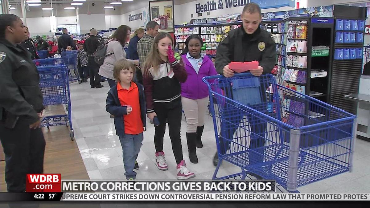 Louisville Metro Corrections officers take kids on shopping spree at Meijer
