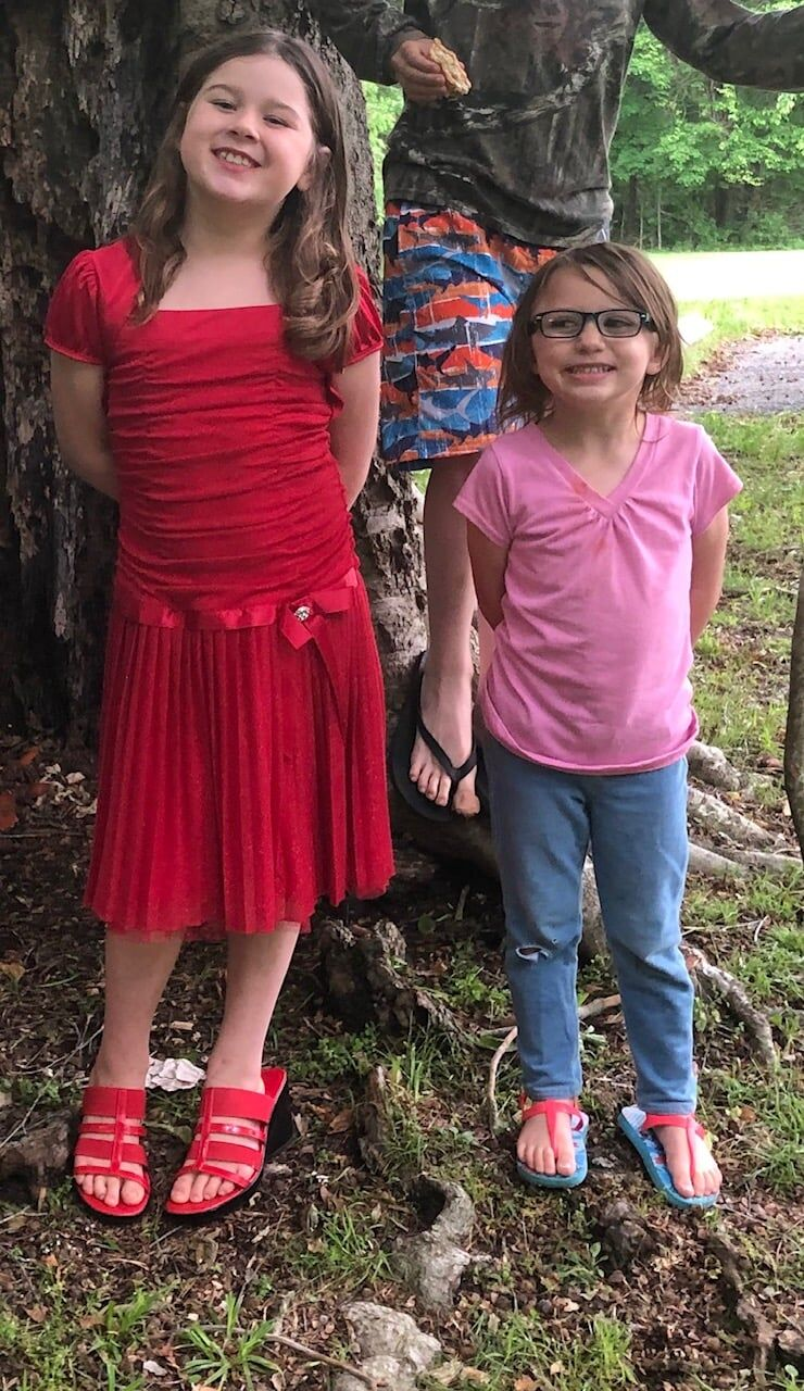 Missing Grayson County Children 8-year-old Carlie-Geary and 5-year-old Chyenne