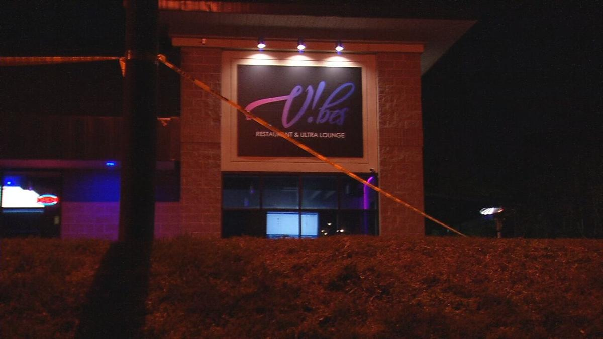 Crime scene tape surrounds Vibes Restaurant and Ultra Lounge on River Road