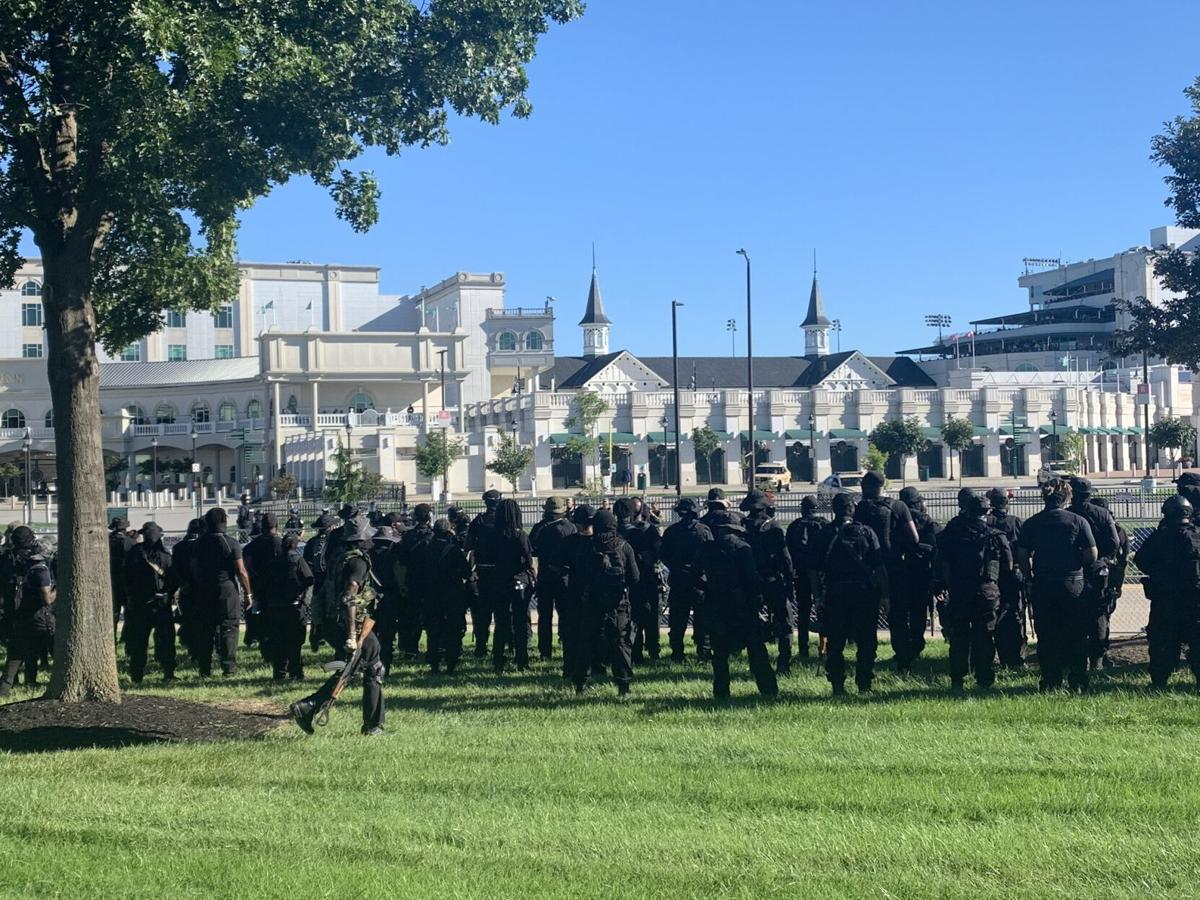 Derby Day- NFAC formation outside Churchill Downs.jfif