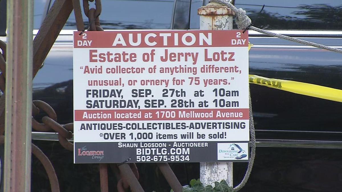 Jerry Lotz estate auction information