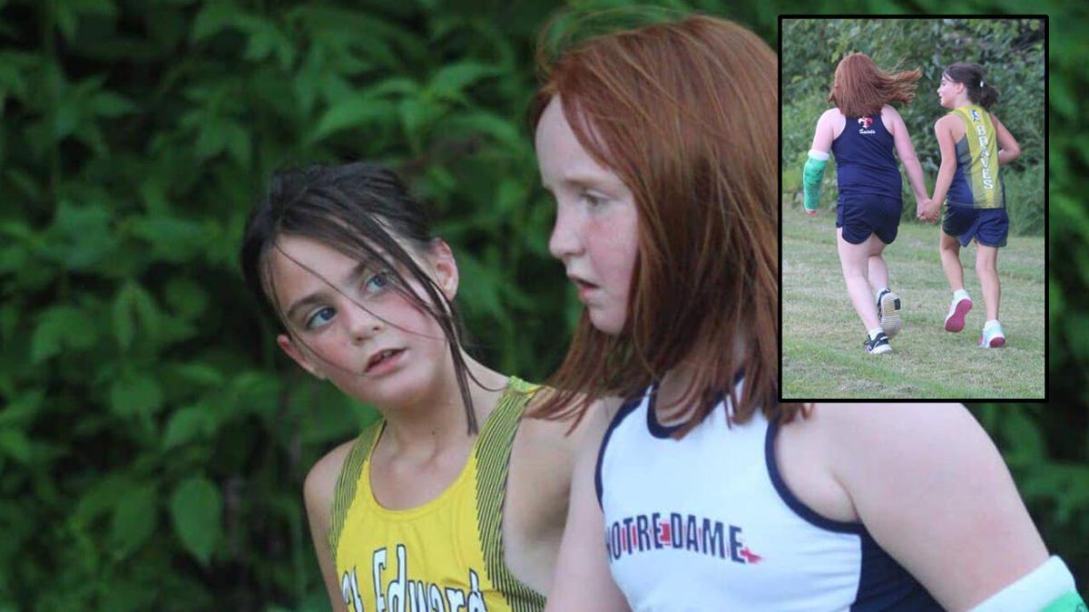 Violet and Josie (elementary school track runners)