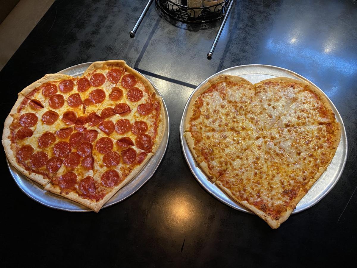 Bearno's Pizza makes heart shape pizza