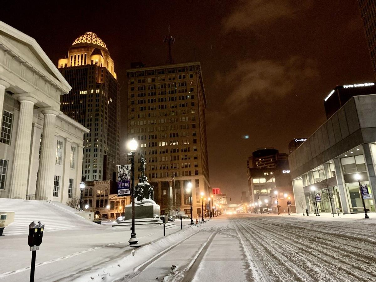 Snowy downtown Louisville 2/15/21