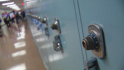 School lockers, hallway (generic)